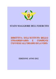 SME – DIRETTIVA SULL'ISTITUTO DELLO STRAORDINARIO E COMPENSI CONNESSI ALL'ORARIO DI LAVORO – edizione 2012