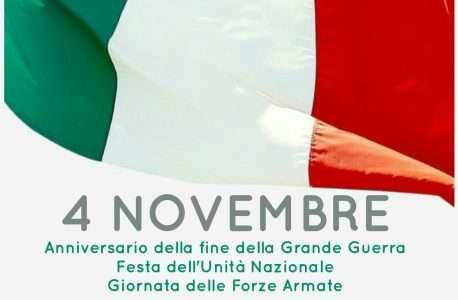 4 Novembre Giornata dell'Unità Nazionale e delle Forze Armate