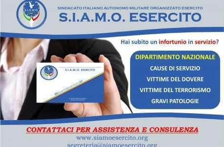 NEWS: Creazione del Dipartimento dedicato alle Cause di Servizio e relativi benefici*.